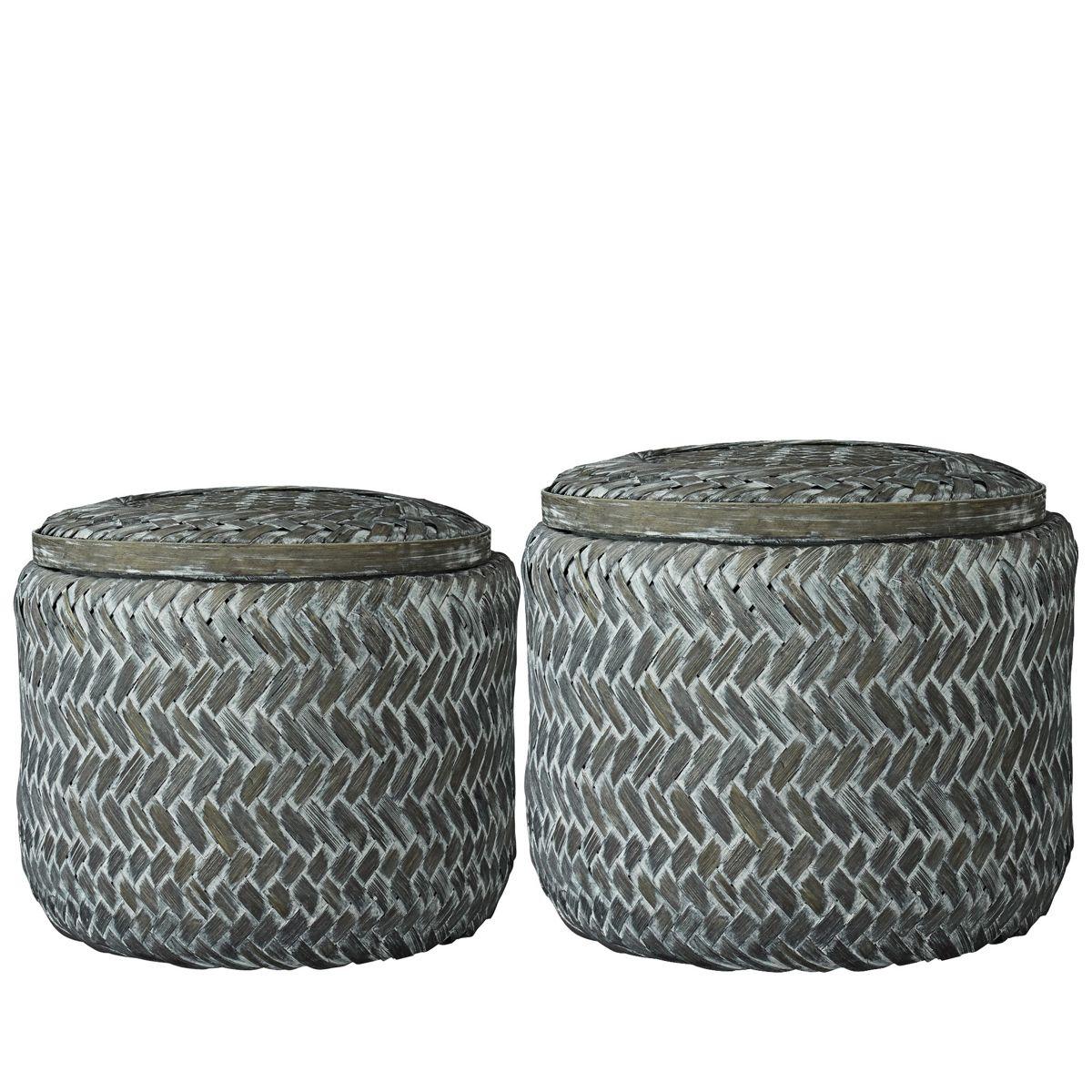 Koszyk pojemnik bambusowy jasira basket item a00002083 lene bjerre dekoracje pude ka for Petits rangements