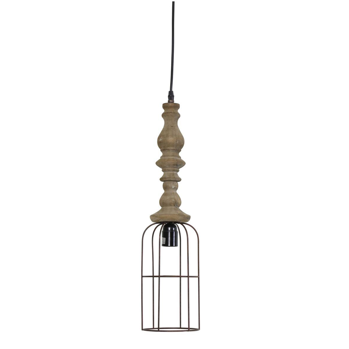 Lampa wisząca Resi metal drewno Ø15x61 cm 3050784 Light ...