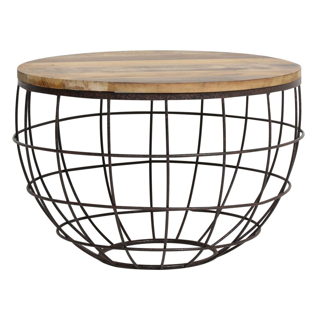 Stolik divan drewno metal 60x41 cm 6708949 light living for Divan za hol