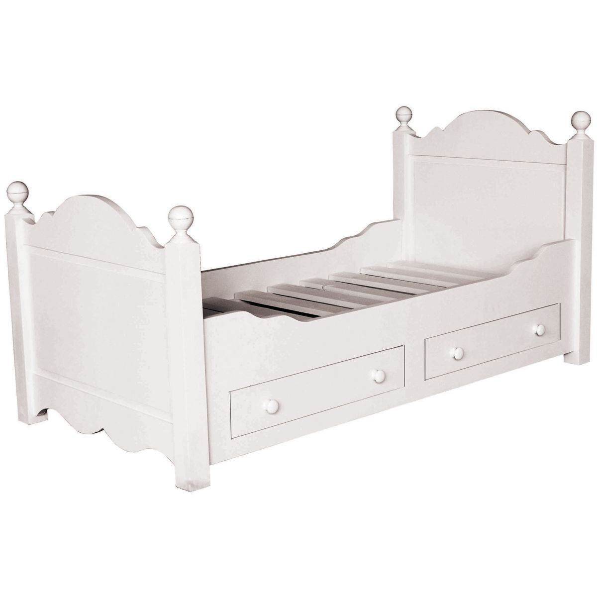 łóżko Z Szufladami 90 X 190 Cm 180 X 200 Cm