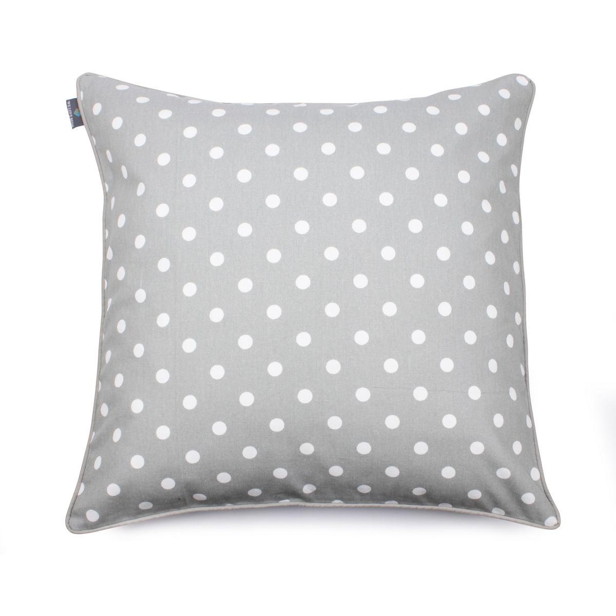 Poduszka Dekoracyjna Z Wkładem Dots Grey 60 X 60 Cm We Love Beds