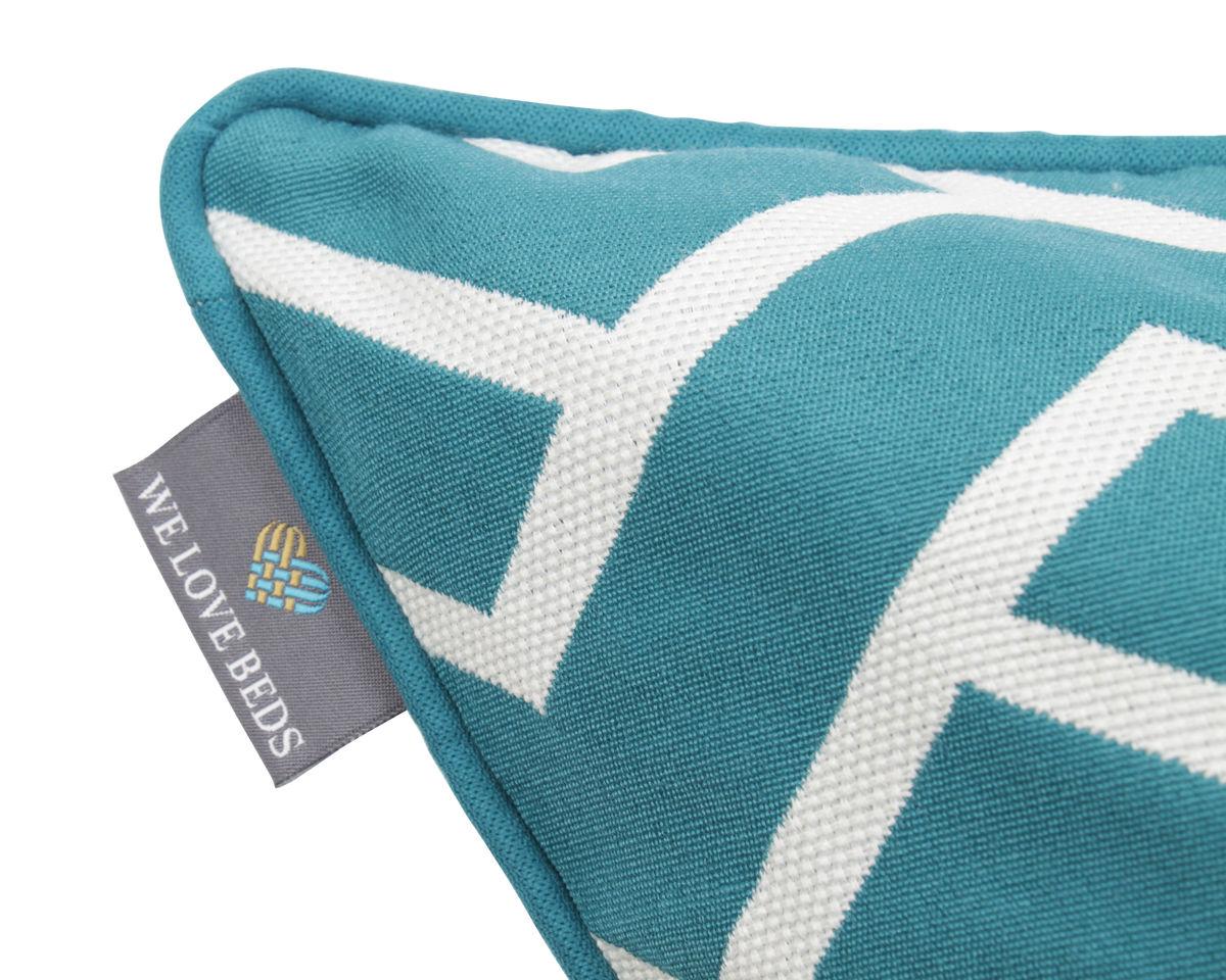 Poduszka Dekoracyjna Z Wkładem Maze Turquise 60 X 60 Cm We Love Beds