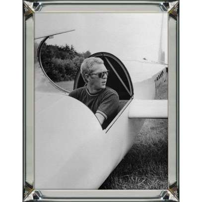 Obraz reprodukcja Steve Mc Queen Airplane Steve Mc Queen Airplane 60x80x4.5cm