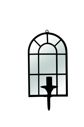 Lampa scienna lustro WINDOW - wall lamp mirror - mirror/metal - black Item: 29384  Pomax home